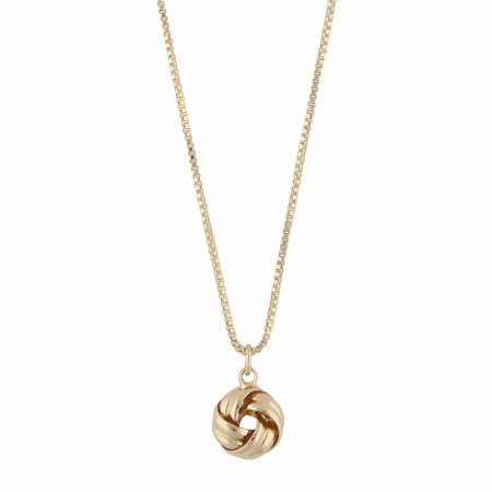 SNÖ Knot small pendant necklace gold