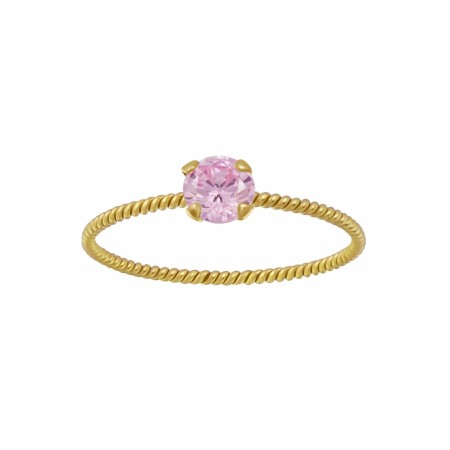 Portofino twisted ring pink/gold