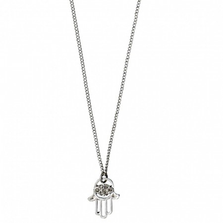 PILGRIM Felicity hamsa hand silver plated necklace