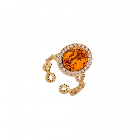 Lively ring topaz rose