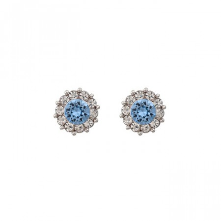 Miss sofia earrings light sapphire