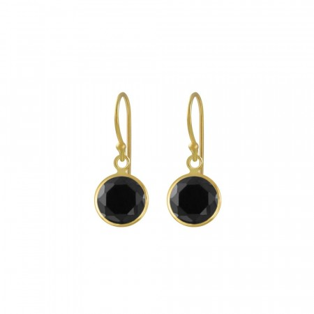 Celine mini drop earrings black/gold