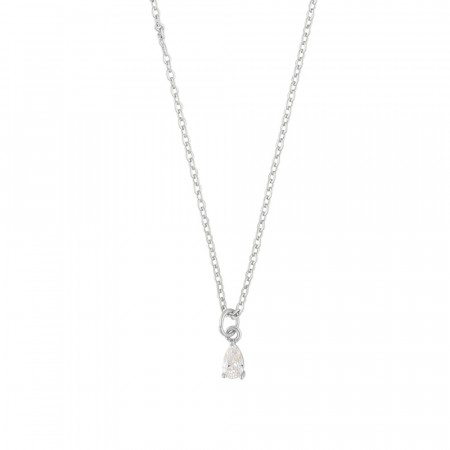 SNÖ Camille small pendant necklace silver/clear