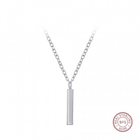 Everyday silver Bar necklace