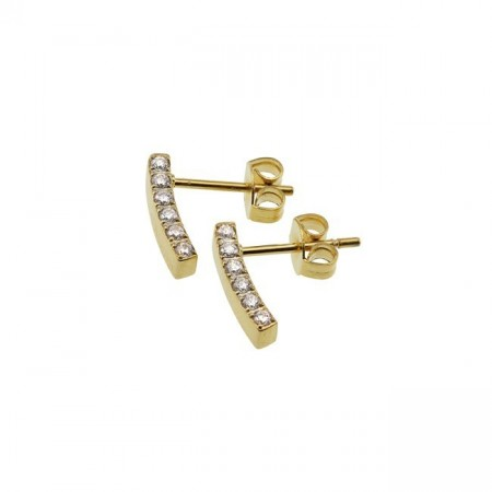 Line earrings small gold