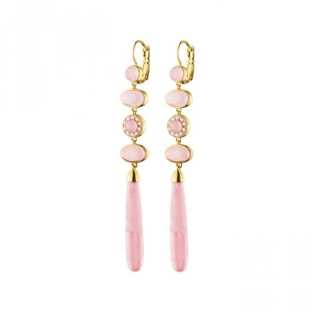 Dyrberg/Kern Sylvie earrings rose quartz