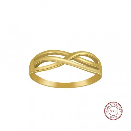 14k gold plated Always and forever ring