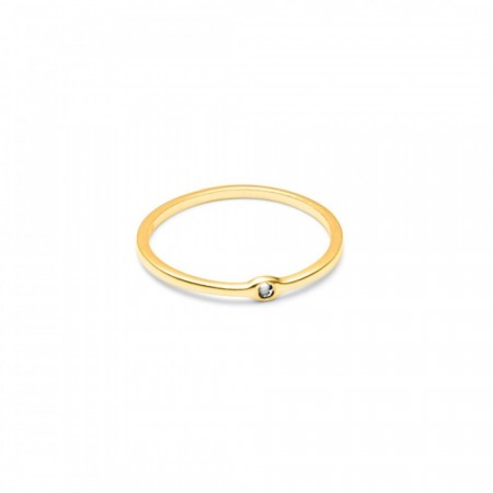 Raw diamond gold ring
