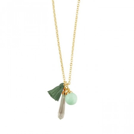 Dyrberg/Kern Sissy necklace green amazonite